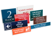 Click this Image to visit the Plastic Signs category.